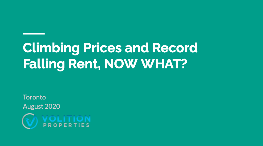 Climbing Prices and Record Falling Rents, NOW WHAT?